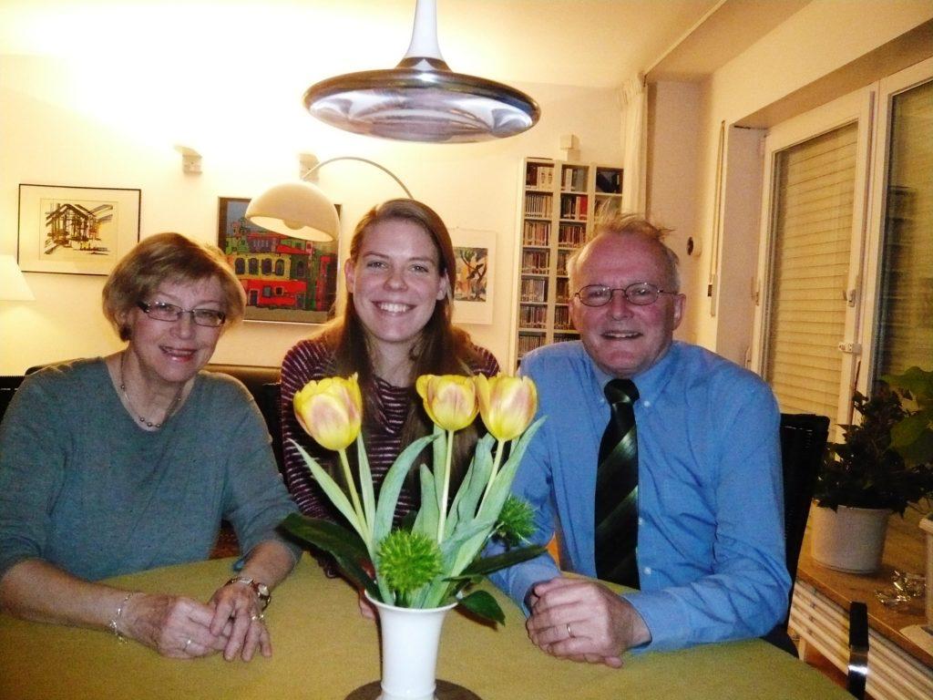 City of Berlin Stipendiatin Brigitte Sykes mit ihren Gasteltern